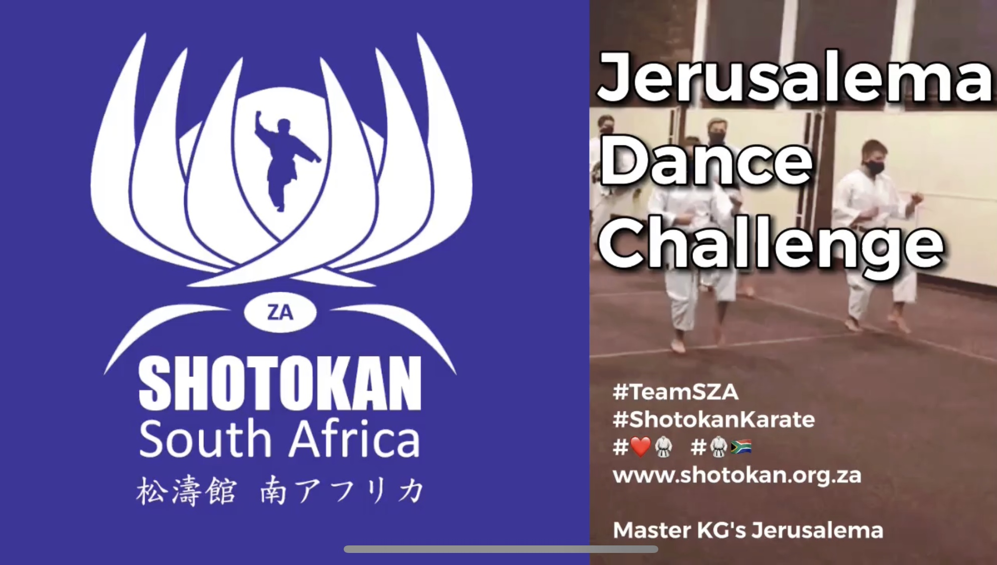 Samurai takes part in the #JerusalemaDanceChallenge